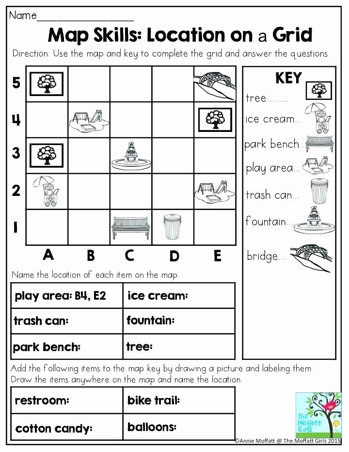 4th Grade Map Skills Worksheets Map Skills Worksheets Middle School