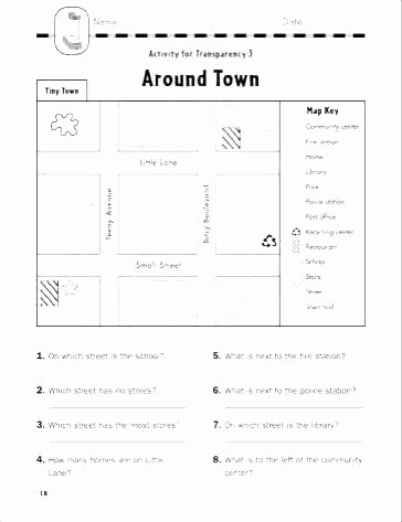 4th Grade Map Skills Worksheets Map Worksheets for 4th Grade