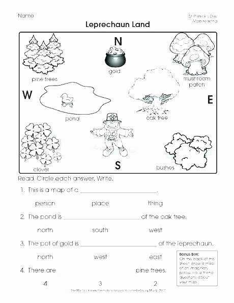 4th Grade Map Skills Worksheets Me On the Map Worksheets