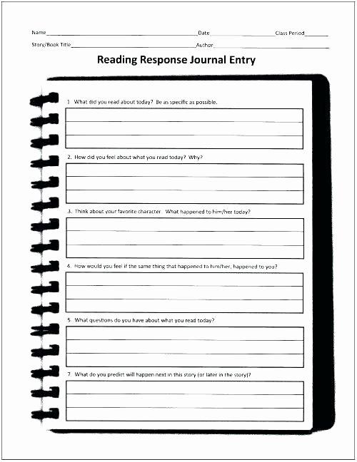4th Grade Reading Response Worksheets Reading Response Graphic organiser Worksheet Designing