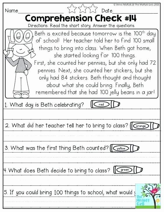 4th Grade Reading Response Worksheets Response to Reading Worksheets Free First Grade Best