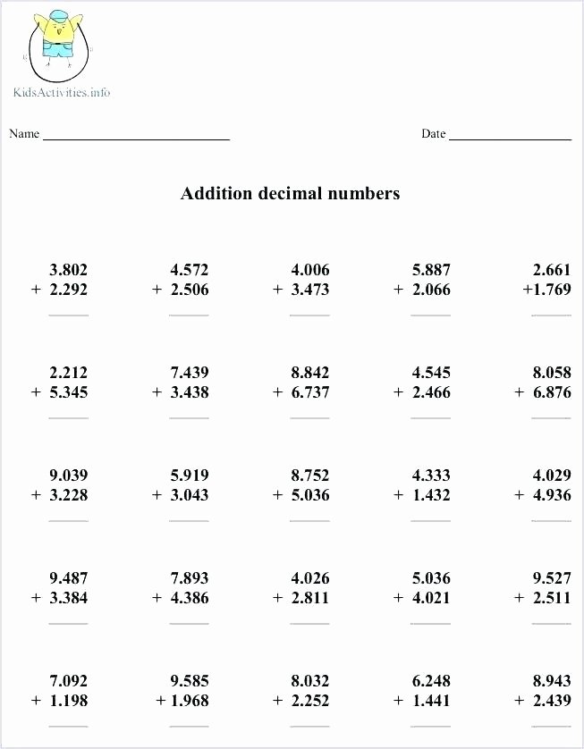 4th Grade Rounding Worksheets Grade Math Rounding Worksheets Decimals to the Nearest Ten