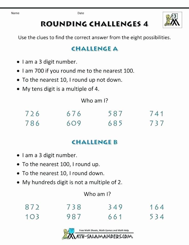 mon core rounding worksheets numbers worksheet challenges sheet 4 grade large math sheets decimals workshee