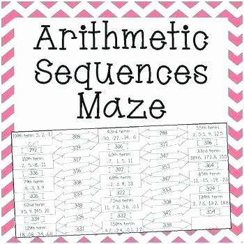 4th Grade Sequencing Worksheets Grade 10 Math Questions and Answers Arithmetic Sequence