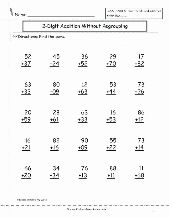 5 Digit Addition with Regrouping Adding without Regrouping Worksheets – Mikkospace