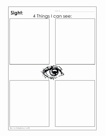 5 Senses Printable Worksheets 5 Senses for Kindergarten Worksheets Related Sense