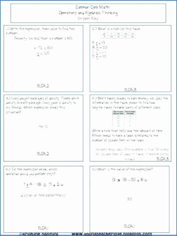 5th Grade Algebraic Expressions Worksheets Operations On Algebraic Expressions Worksheets