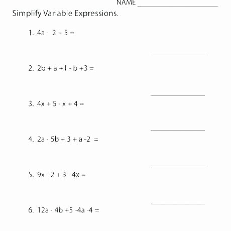 5th Grade Algebraic Expressions Worksheets Variable Expressions – Upstatemedicaluniversity