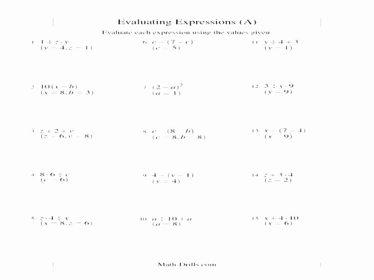 5th Grade Algebraic Expressions Worksheets Worksheet On Algebra – originalpatriots