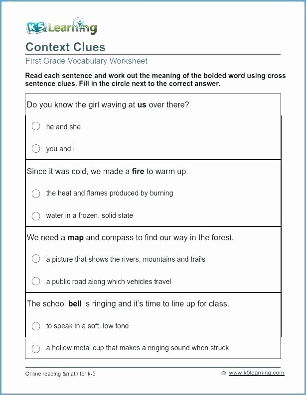 5th Grade Context Clues Worksheets 5th Grade Vocabulary Worksheets Pdf Fifth Grade Worksheets