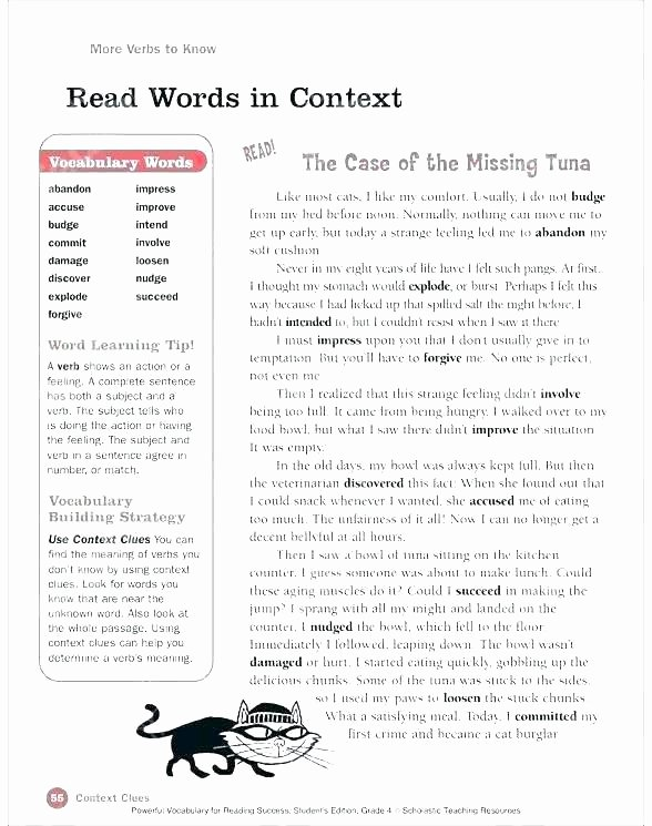 5th Grade Context Clues Worksheets Context Clues Worksheets for 5th Grade – butterbeebetty