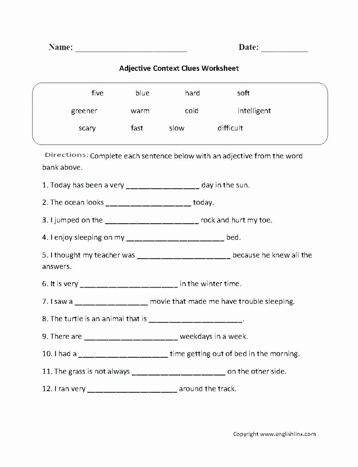 5th Grade Context Clues Worksheets Context Clues Worksheets Third Grade Context Clues