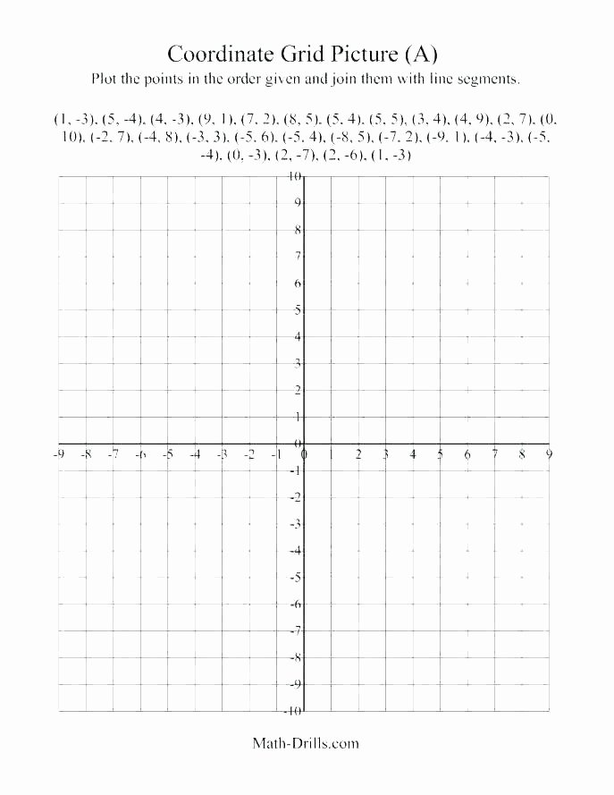 5th Grade Coordinate Grid Worksheets Blank Coordinate Plane Worksheets