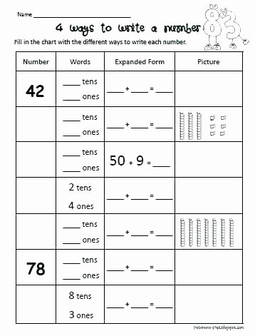 5th Grade Expanded form Worksheets 5th Grade Math Place Value Worksheets New Expanded form