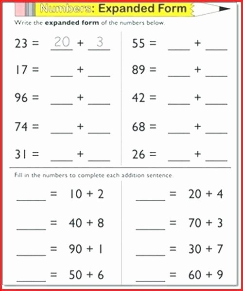 5th Grade Expanded form Worksheets Expanded form Worksheets – Ccavzyfo