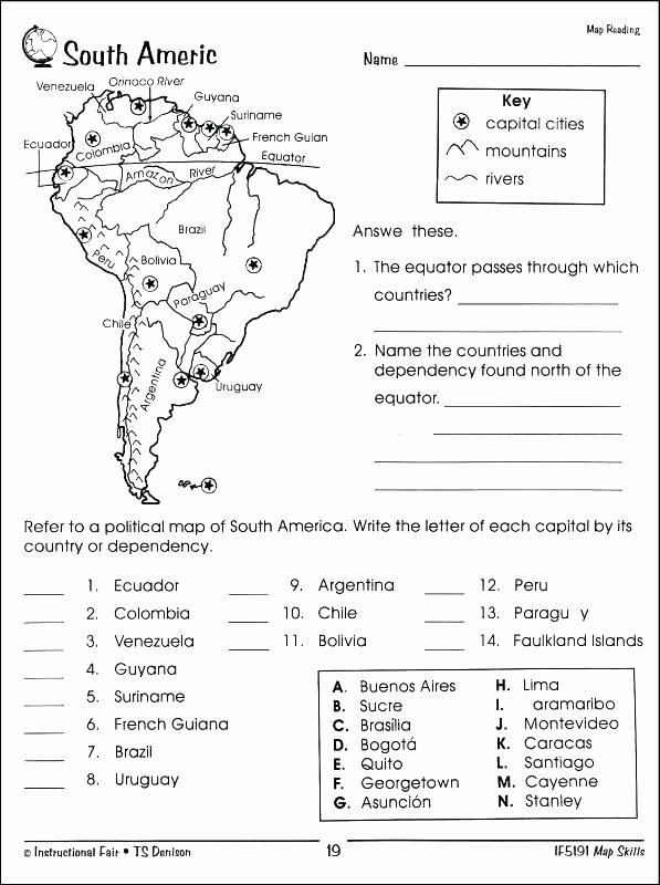 5th Grade Geography Worksheets World Geography Map Skills Worksheets Fresh Grade 7 Free Sub