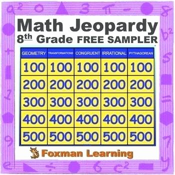 5th Grade Jeopardy Math Grade Math Jeopardy Mon Core Review Game Free Sampler by