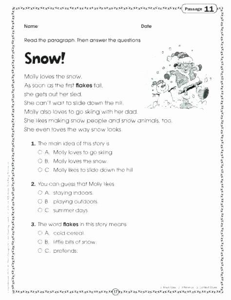 5th Grade Main Idea Worksheet Main Idea Worksheets Grade 5