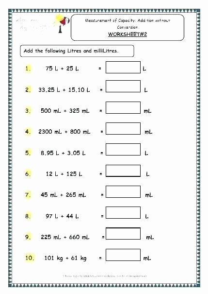 5th Grade Measurement Worksheet Mass Worksheets