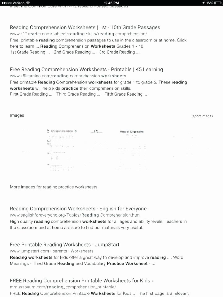 5th Grade Science Practice Worksheets Reading Prehension Worksheets for Kindergarten and First