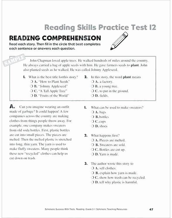 5th Grade theme Worksheets Main Idea Grade Worksheets Image Result for Worksheet