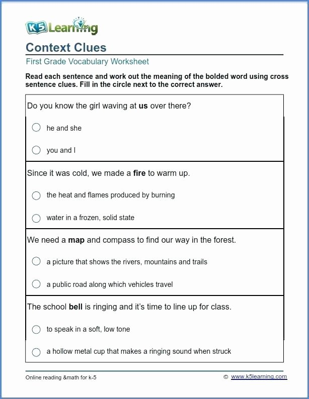 5th Grade Vocabulary Worksheets Pdf First Grade Vocabulary Worksheets