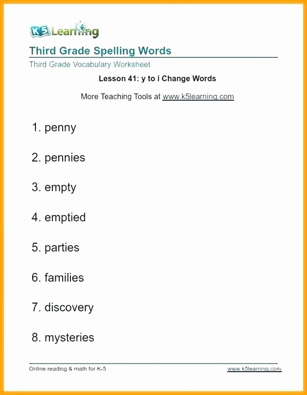 5th Grade Vocabulary Worksheets Pdf Grade 3 Vocabulary Worksheet Words and their Meanings