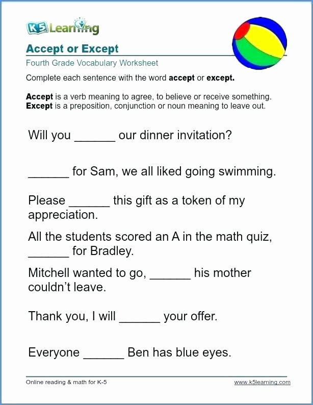 5th Grade Vocabulary Worksheets Pdf Grade 4 Vocabulary Worksheets – Morningknits
