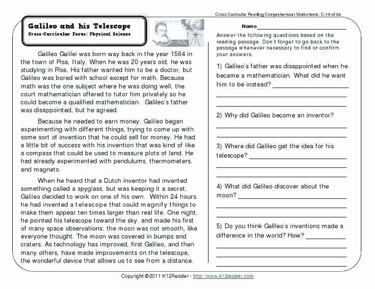 5th Grade Worksheets Printable Reading Free Second Grade Reading Prehension Worksheets