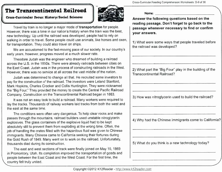 5th Grade Worksheets Printable Reading Summarizing Worksheets Grade Reading Prehension Free