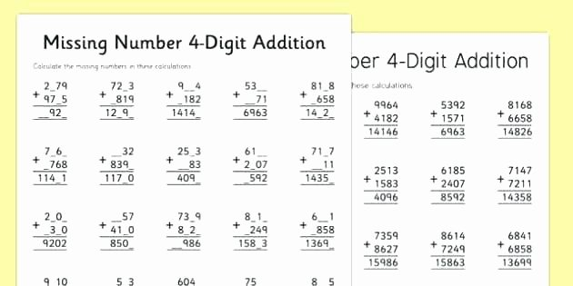 6 Digit Subtraction Worksheets Four Digit Addition Worksheets Grade Subtraction with