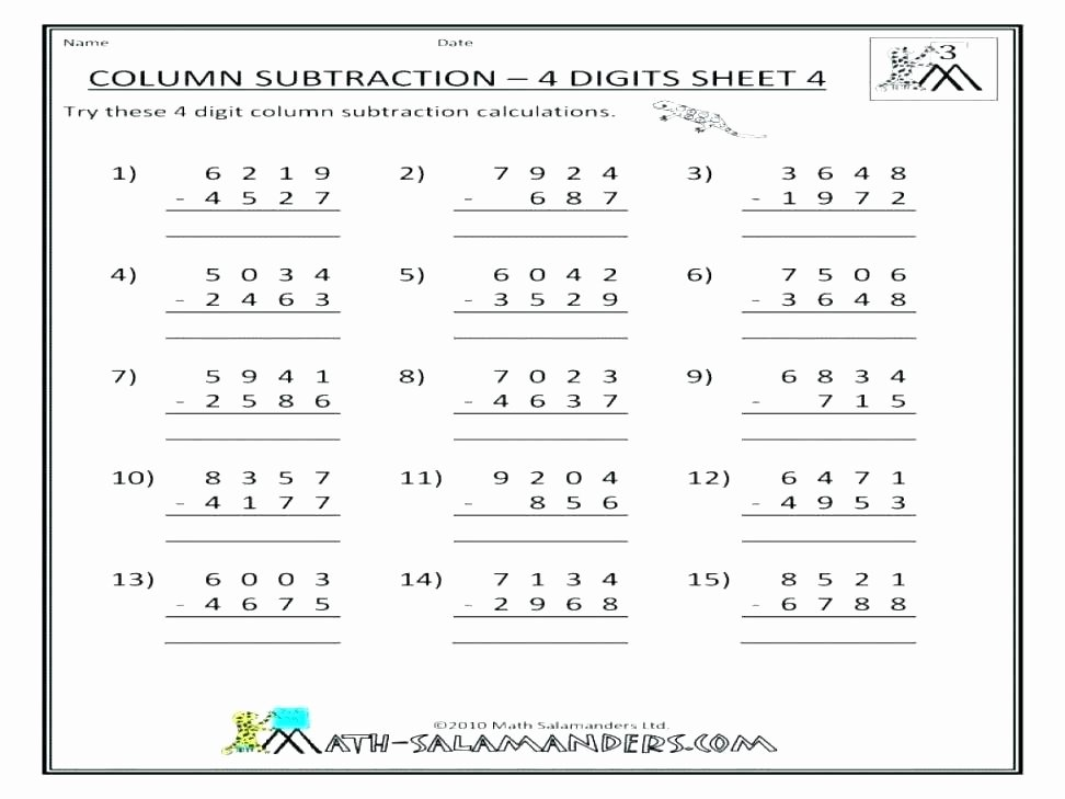 6 Digit Subtraction Worksheets Mixed Addition and Subtraction Worksheets Subtract Word