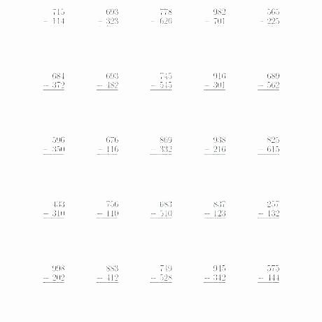 6 Digit Subtraction Worksheets Printable Subtraction Worksheets with Borrowing