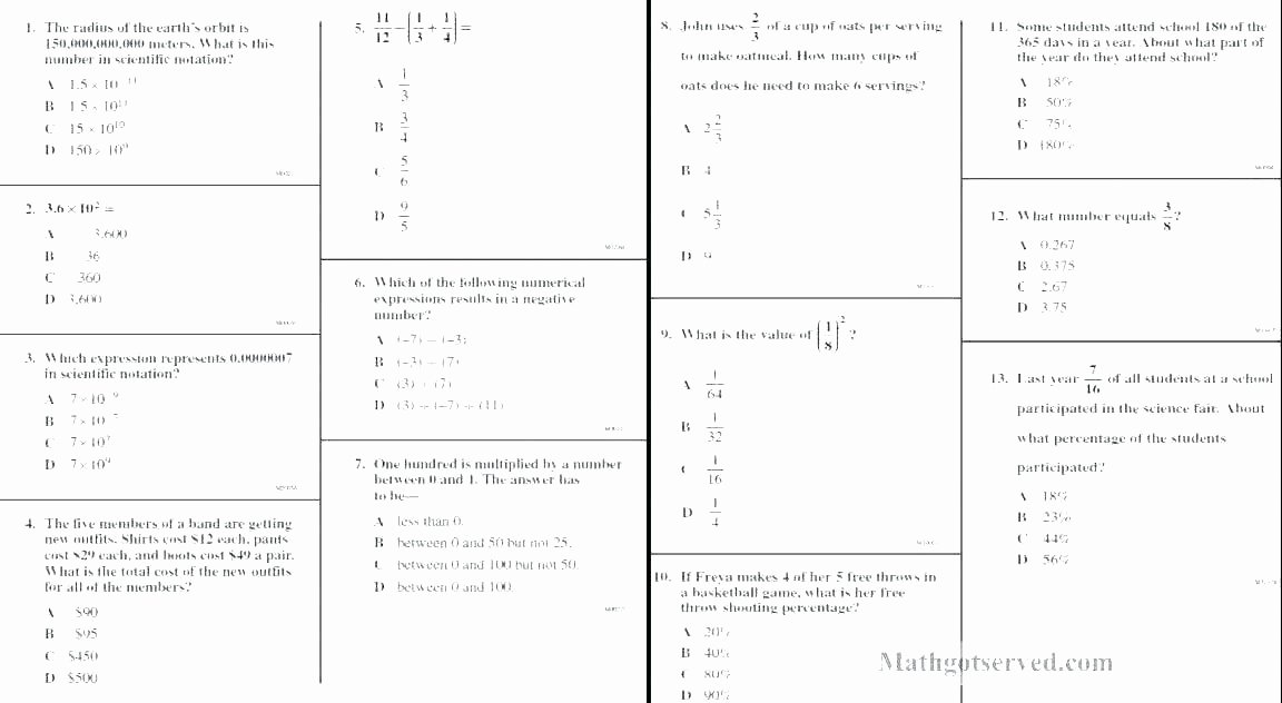 6th Grade Math Crossword Puzzles 6th Grade Math Puzzle Worksheets