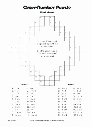 6th Grade Math Crossword Puzzles Fun 6th Grade Math Puzzle Worksheets Free Printable Puzzles