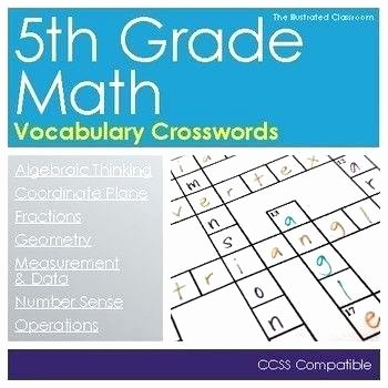 6th Grade Math Crossword Puzzles Math Challenge Worksheets for 5th Grade