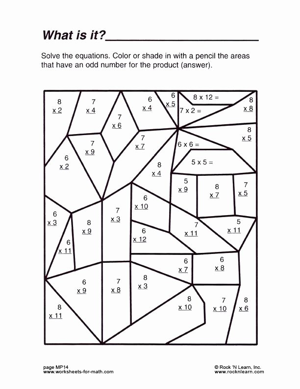 6th Grade Math Crossword Puzzles Math Puzzle Worksheets Grade 7