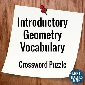 6th Grade Math Crossword Puzzles Math Vocabulary Crossword Puzzle Answers