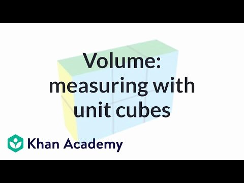 6th Grade Measurement Worksheets Measuring Volume with Unit Cubes Video
