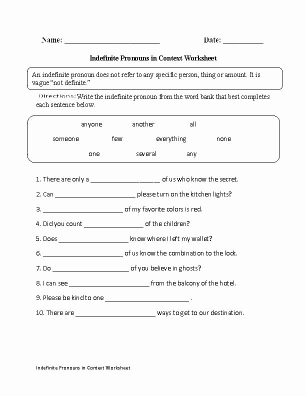 6th Grade Pronoun Worksheets Grammar Worksheets for 6th Grade – Katyphotoart