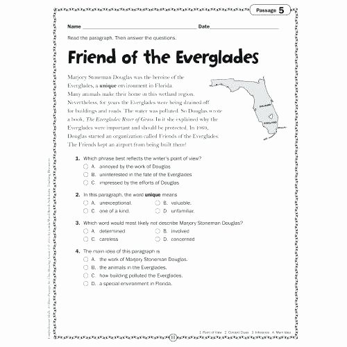 6th Grade Reading Worksheets Fourth Grade Reading Worksheets Inspirational 1st Grade