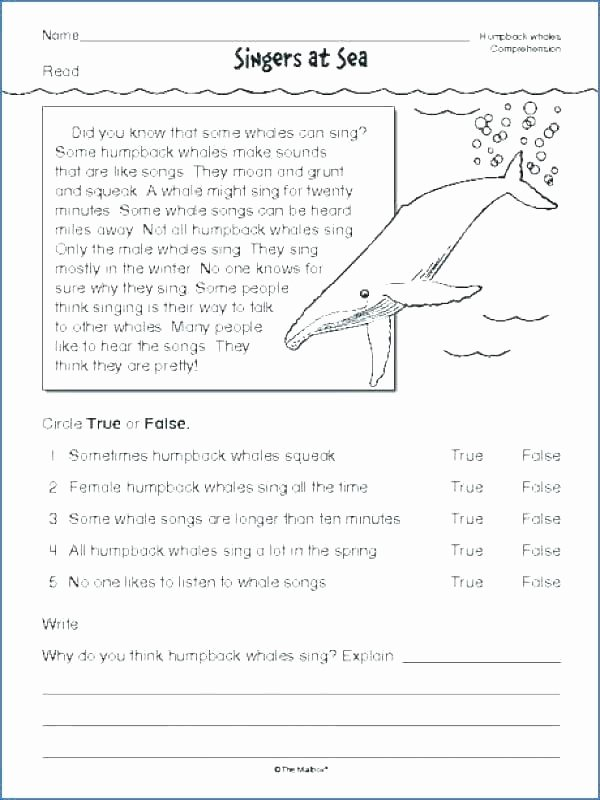 6th Grade Reading Worksheets Printable 6th Grade Ela Reading Prehension Worksheets Ela Reading