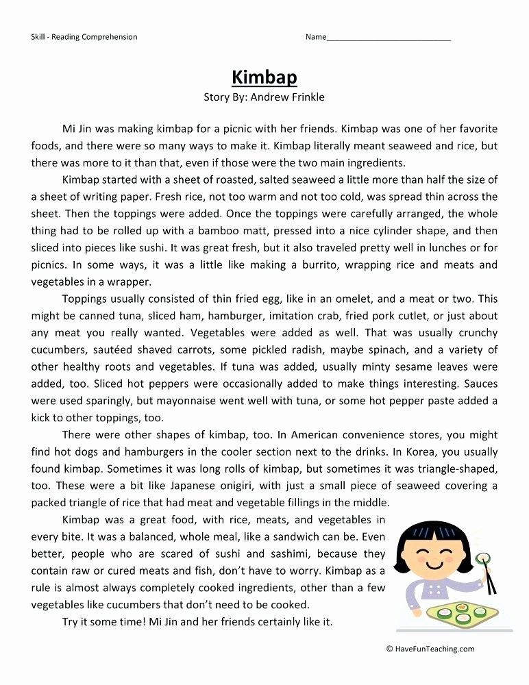 6th Grade Reading Worksheets Printable 6th Grade Reading Worksheets