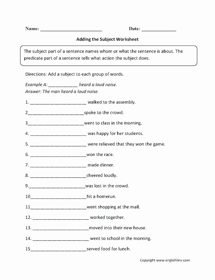 6th Grade Sentence Structure Worksheets Plex Sentence Structure Worksheets