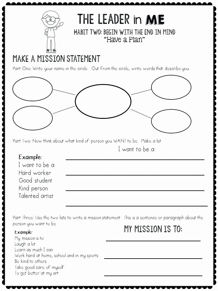 7 Habits for Kids Worksheets Best Of Leader In Me Worksheets Printable 7 Habits Posters Happy