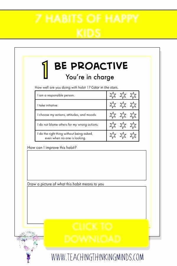7 Habits for Kids Worksheets Lovely Happiness Happiness Printable Worksheets Maths Worksheets Ideas