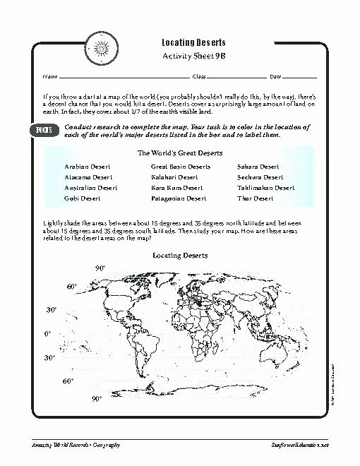 7th Grade Geography Worksheets Printable Free Worksheets Library Download and Print Map