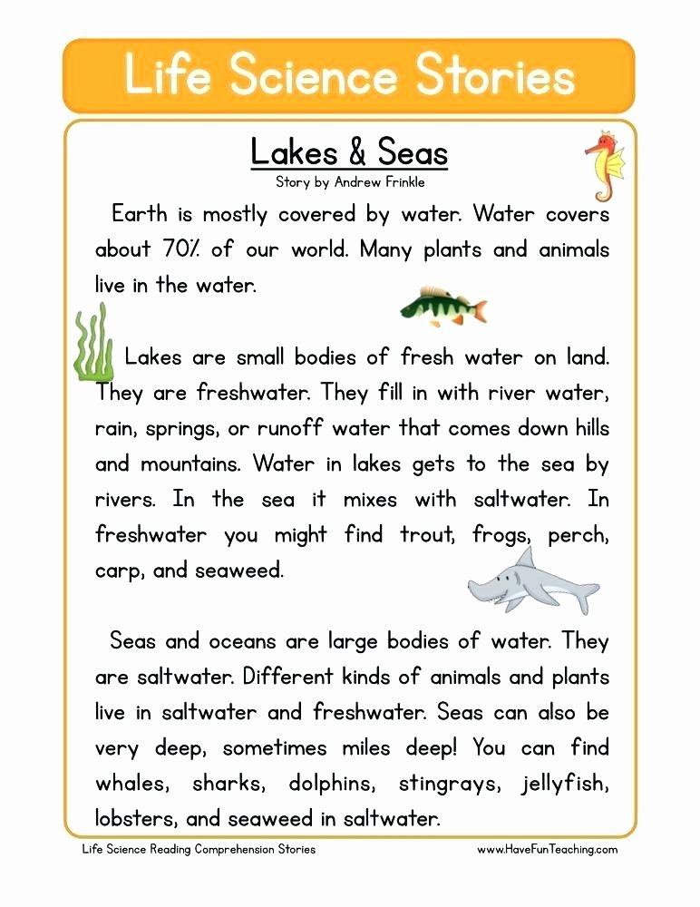 7th Grade Life Science Worksheets Free Printable Second Grade Science Worksheets Reading