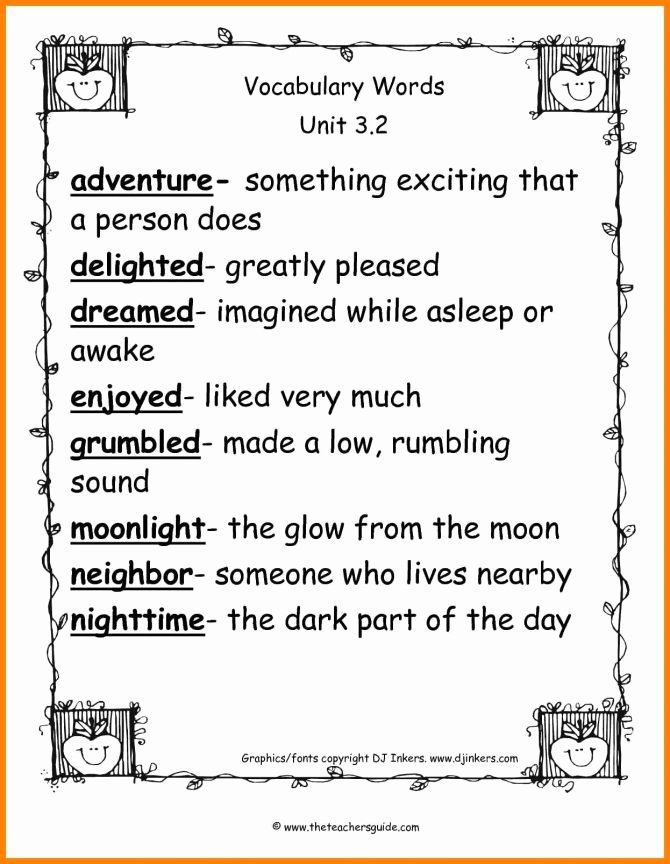 2nd grade enrichment s math vocabulary briefencounters kids 670x864