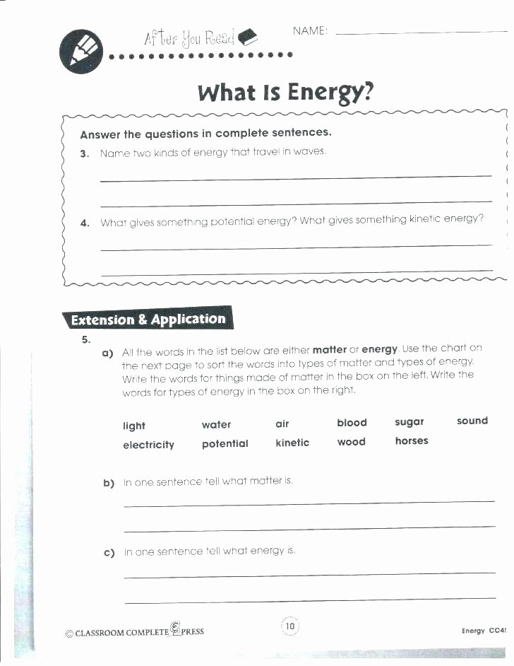 7th Grade Science Worksheets Printable Third Grade Science Worksheets